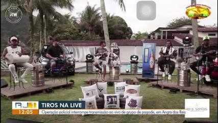 Tiroteio interrompe live de grupo de pagode em Angra dos Reis