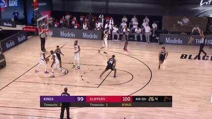 Melhores momentos: Los Angeles Clippers 102 x 106 Sacramento Kings, pela NBA