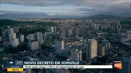 Joinville anuncia novas restrições com multa que pode chegar a R$ 6 mil