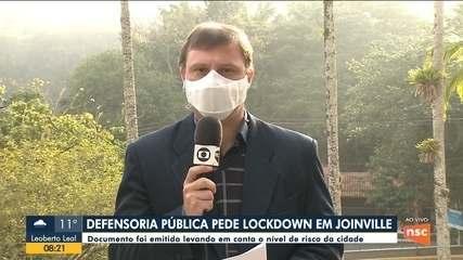 Defensoria Pública de SC pede lockdown em Joinville após aumento no nível de risco