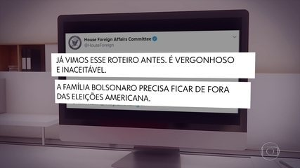 Comissão da Câmara dos EUA se manifesta contra postagem de Eduardo Bolsonaro