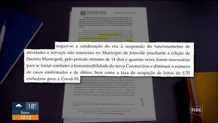 Defensoria Pública quer a suspensão de atividades não essenciais em Joinville
