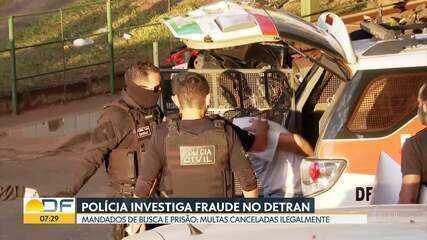Operação policial tem mandados de busca e prisão para apurar fraudes no Detran, em julho