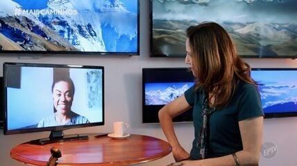 Edlaine Garcia conhece Aretha Duarte: campineira que sonha em escalar o Everest
