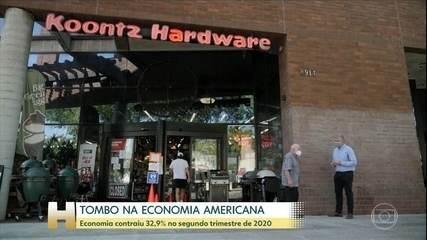 Economia dos EUA contrai 32,9% no segundo trimestre de 2020