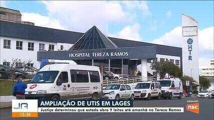 Justiça determina que governo abra 9 leitos no Tereza Ramos em Lages