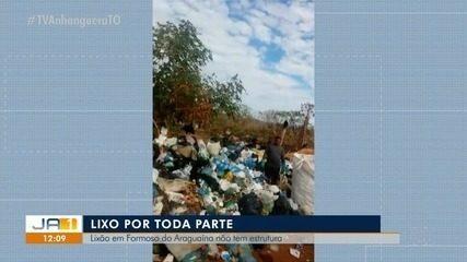 Sem estrutura adequada, lixo é jogados na estrada em Formoso do Araguaia