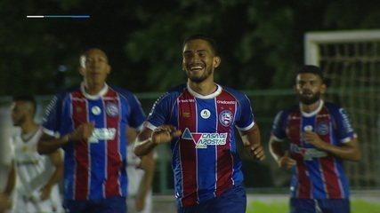 Gol do Bahia! Marco Antônio bate da entrada da área e abre o placar