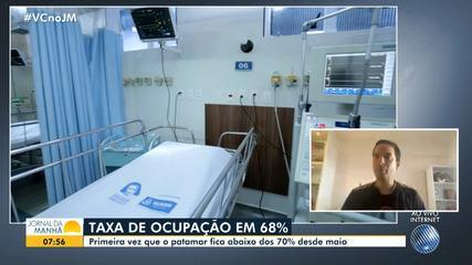 Secretário de saúde comenta a queda da ocupação de leitos para pacientes com Covid-19