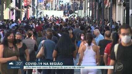 Covid-19: julho tem 63% dos casos e 57% das mortes nas regiões de Campinas e Piracicaba