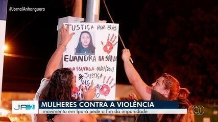 Movimento em Iporá pede o fim da violência contra a mulher