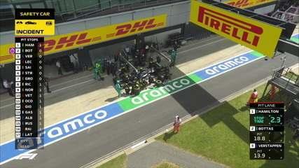 Pilotos fazem parada nos boxes no GP da Inglaterra