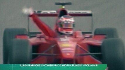 Rubens Barrichello comemora 20 anos da primeira vitória na F1