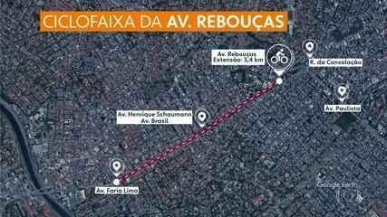 Obras da nova ciclofaixa na Avenida Rebouças começam nesta terça (04)