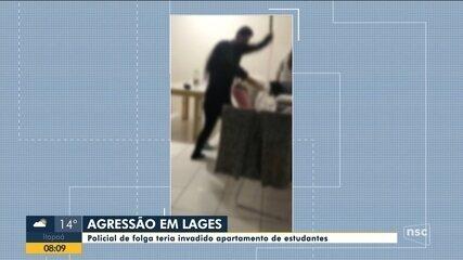 Policial teria invadido apartamento de estudantes em Lages