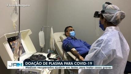 Médicos recuperados da Covid-19 doam plasma para ajudar a tratar casos da doença