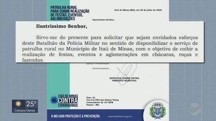 Prefeitura pede ajuda à PM para conter aglomerações em Itaú de Minas