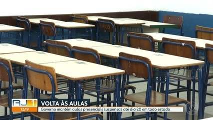 Governo suspende aulas presenciais até 20 de agosto