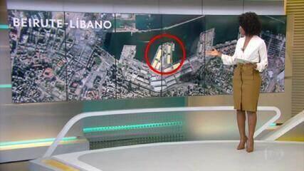 Veja a região portuária de Beirute antes e depois da explosão