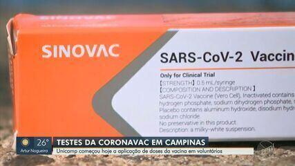 Unicamp prevê aplicar vacina chinesa em todos os 500 voluntários durante um mês