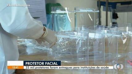 UFG entrega cerca de 25 mil protetores faciais a instituições de saúde