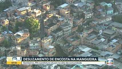 Octávio Guedes comenta sobre o deslizamento no Morro da Mangueira