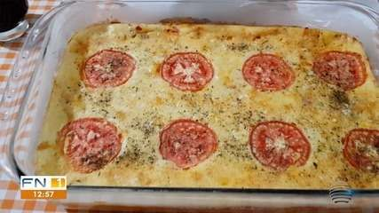 Paulo Taroco ensina a preparar uma Torta Pizza