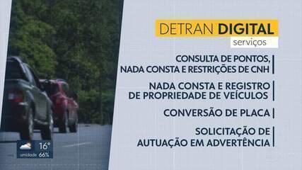 Vinte serviços do Detran podem ser acessados pelo site ou por app