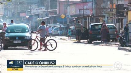 Moradores de Sepetiba reclamam do desaparecimento de pelo menos oito linhas