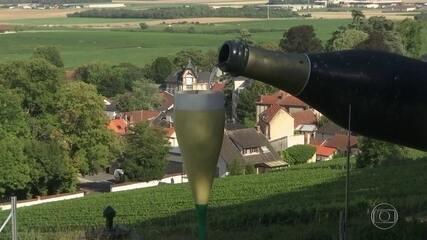 Champagne  está virando álcool em gel na França