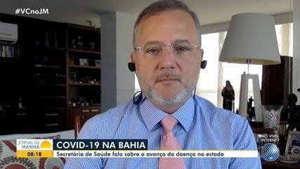 Secretário fala sobre o aumento na média móvel de mortes causadas pela Covid-19 na Bahia