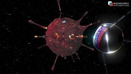 Vídeo: divulgação da vacina russa remete à corrida espacial