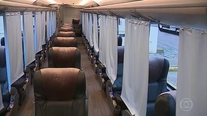 Ônibus gaúcho promete viagem sem risco de pegar Covid-19