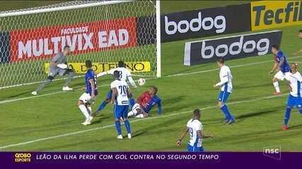 Na Série B, Avaí perde para o Paraná com gol contra