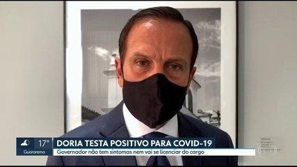Governador João Doria testa positivo para o novo coronavírus