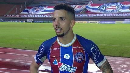 Flávio, meio-campo do Bahia, diz que desgaste físico prejudicou o time no 2º tempo