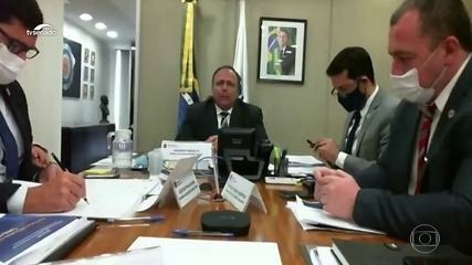 Pazuello não faz menção aos 105 mil mortos pela Covid-19 no Brasil em reunião com a OMS