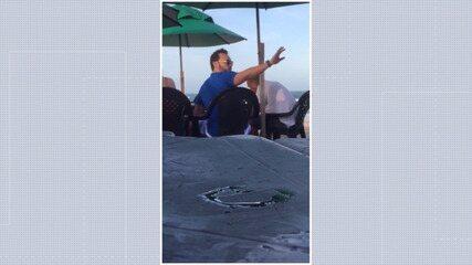 Vídeo mostra Ícaro em praia