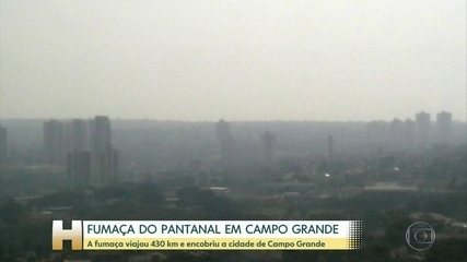 Campo Grande amanheceu coberta pela fumaça das queimadas do Pantanal