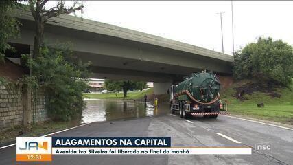 Chuva causa alagamentos em Florianópolis