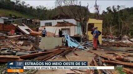 Tornado que atingiu Água Doce deixa pessoas feridas