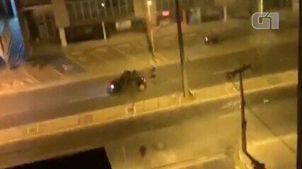 Moradores filmam bandidos fugindo após roubo a banco na Zona Leste de Teresina