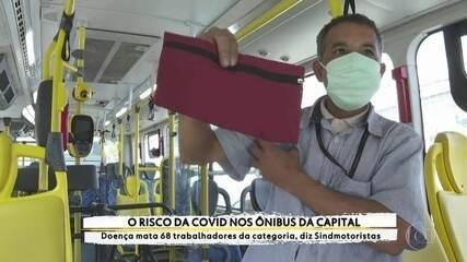 Motoristas de ônibus lidam com os riscos da Covid-19 no transporte público