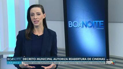 Decreto municipal autoriza a reabertura de cinemas em Cascavel