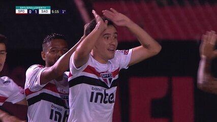 O gol de Sport 0 x 1 São Paulo pela 5ª rodada do Campeonato Brasileiro