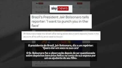 Agressão verbal de Bolsonaro contra jornalista repercute na imprensa internacional