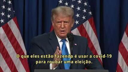 Trump acusa oposição de usar a Covid-19 para tentar vencer eleições nos EUA