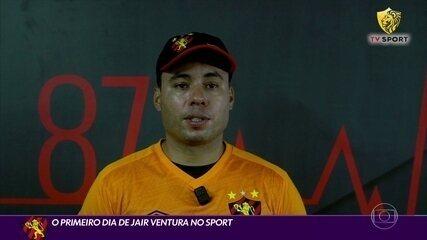 Jair Ventura faz o primeiro treino como comandante do Sport