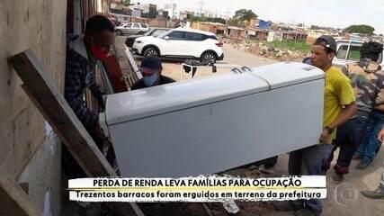 Perda de renda na pandemia leva famílias a ocupar terreno da prefeitura em Vila Medeiros