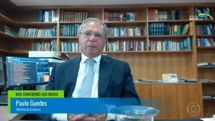 Paulo Guedes diz que tomou 'carrinho' de Bolsonaro